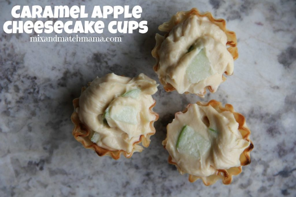 Caramel Apple Cheesecake Cups