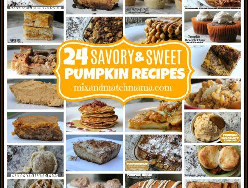 24 Savory & Sweet Pumpkin Recipes