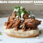 Saucy Bleu Cheese Brisket Sandwiches