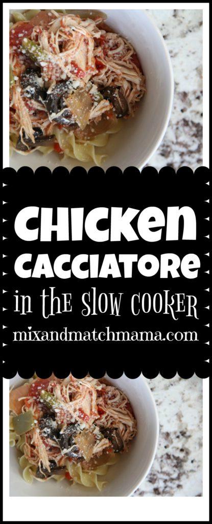 Chicken Cacciatore {In The Slow Cooker} Recipe, Chicken Cacciatore {in the slow cooker}