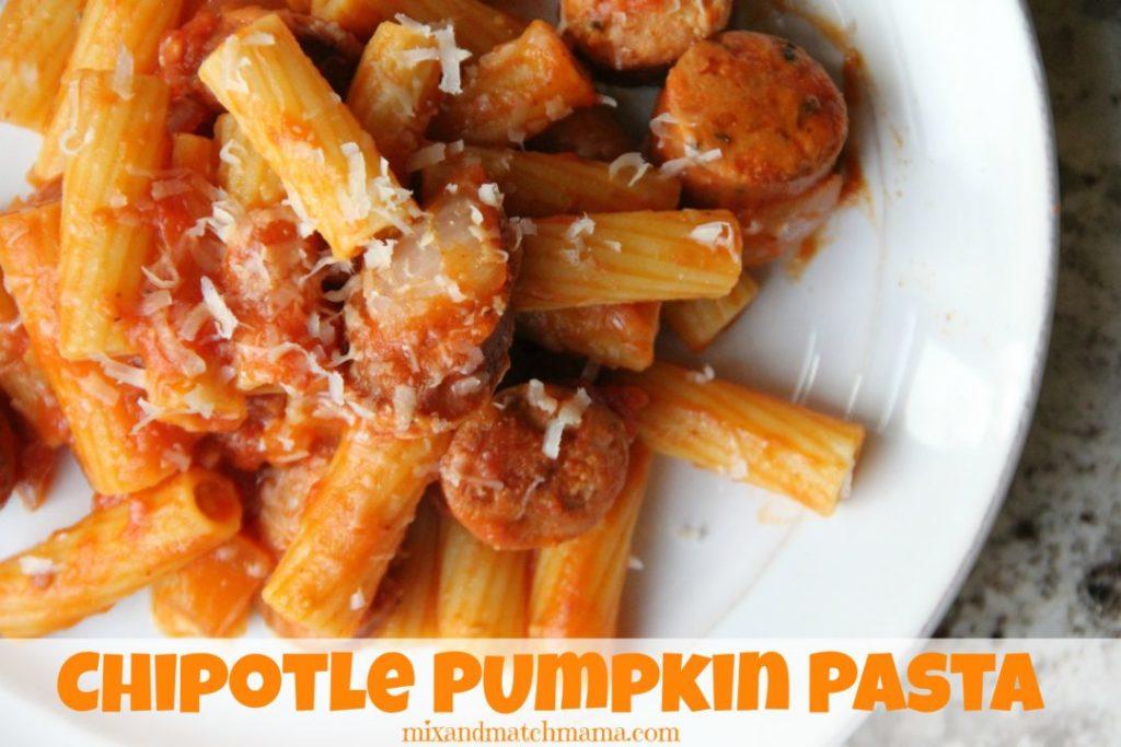 Chipotle Pumpkin Pasta Recipe, Chipotle Pumpkin Pasta