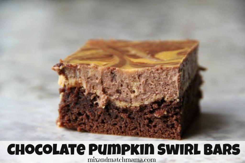Chocolate Pumpkin Swirl Bars