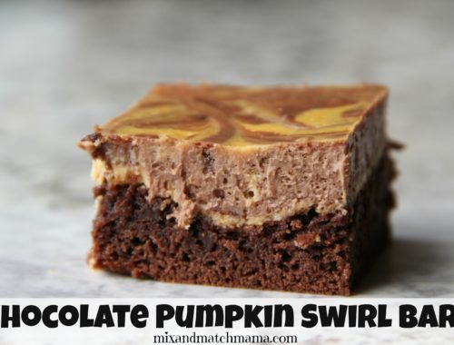 Chocolate Pumpkin Swirl Bars