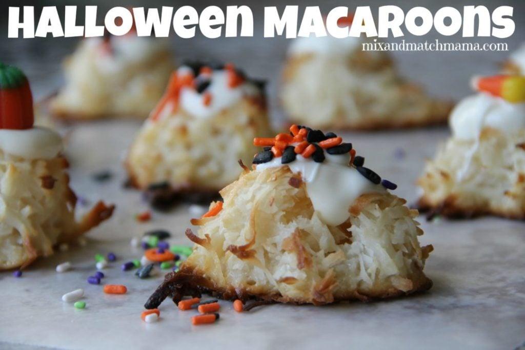 Halloween Macaroons Recipe, Halloween Macaroons