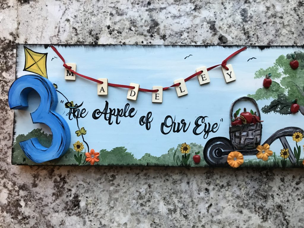 , The apple of our eye is THREE!