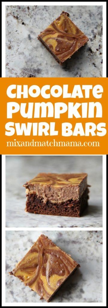 Chocolate Pumpkin Swirl Bars Recipe, Chocolate Pumpkin Swirl Bars