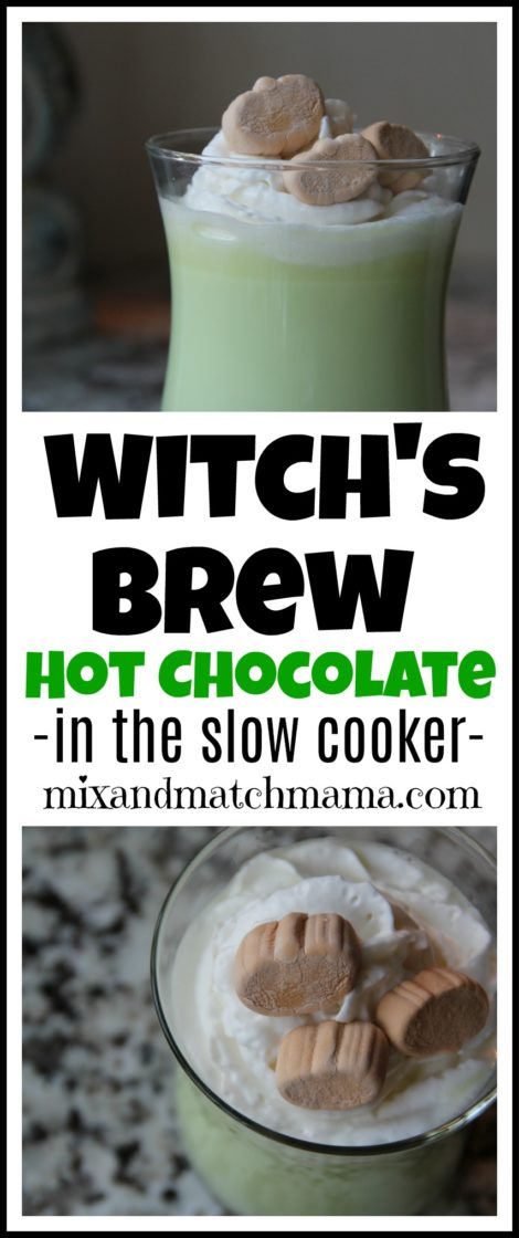 Witch's Brew Hot Chocolate {in the slow cooker} | Mix and ...