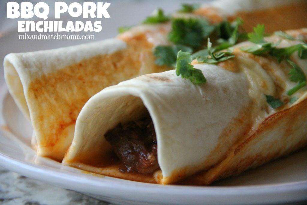 BBQ Pork Enchiladas