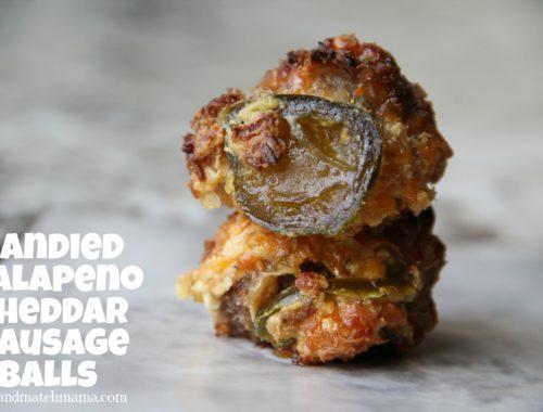 Candied Jalapeno Cheddar Sausage Balls