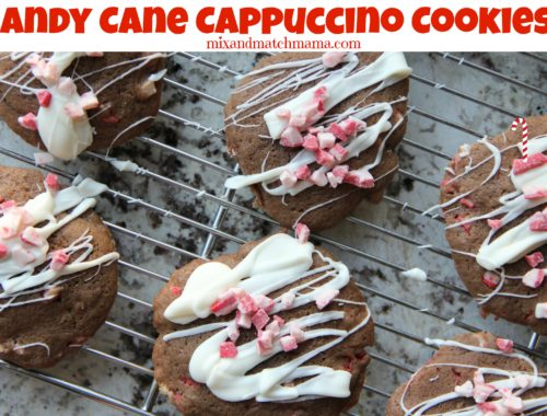Candy Cane Cappuccino Cookies