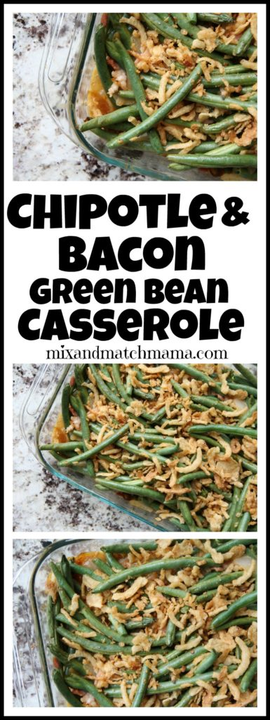Chipotle & Bacon Green Bean Casserole