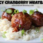 Saucy Cranberry Meatballs