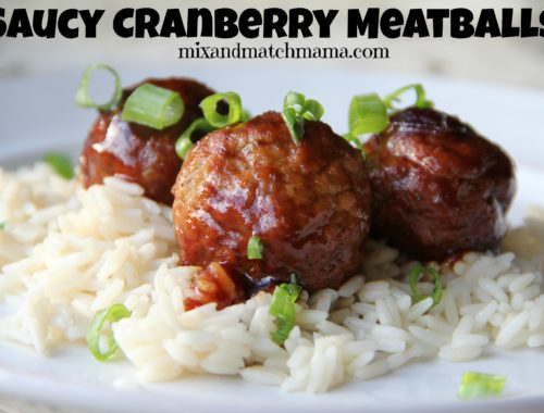 Saucy Cranberry Meatballs