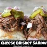 Beer Cheese Brisket Sandwiches