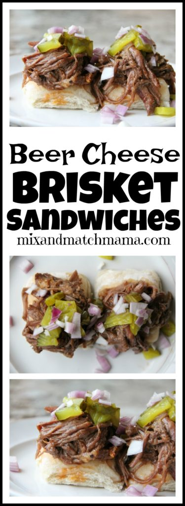 Beer Cheese Brisket Sandwiches