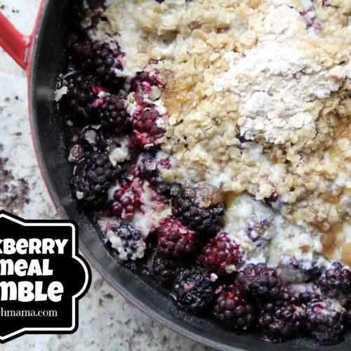 Blackberry Oatmeal Crumble