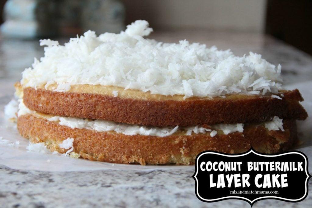Coconut Buttermilk Layer Cake
