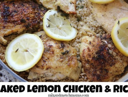 Baked Lemon Chicken & Rice