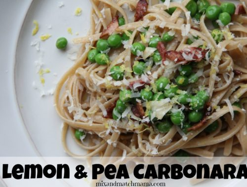 Lemon & Pea Carbonara