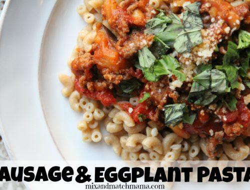 Sausage & Eggplant Pasta