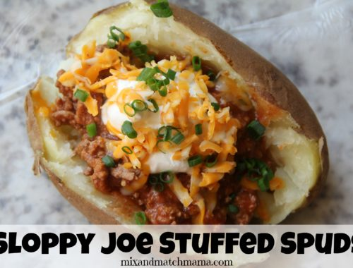 Sloppy Joe Stuffed Spuds
