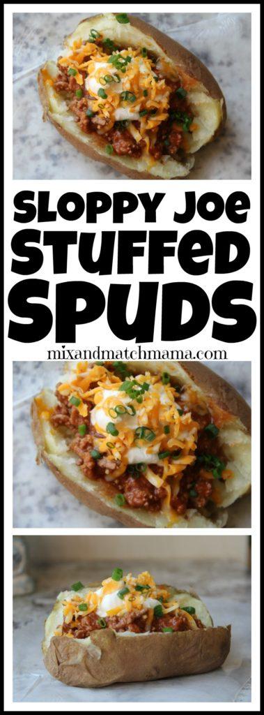 Sloppy Joe Stuffed Spuds