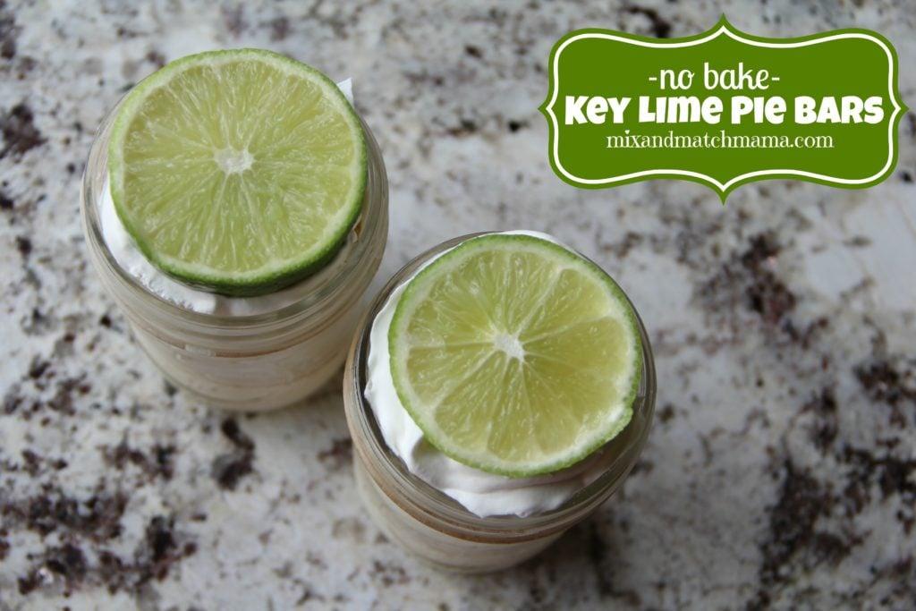 No Bake Key Lime Pie Bars