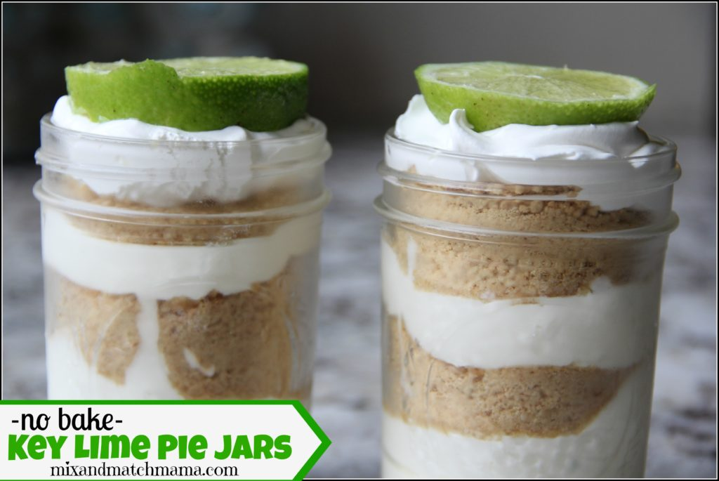 No Bake Key Lime Pie Jars
