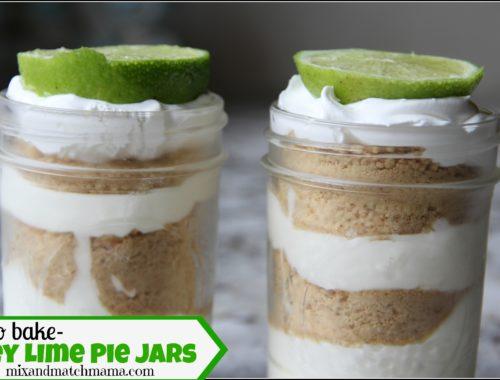 No Bake Key Lime Pie Jars
