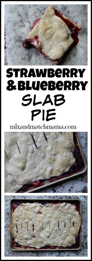 Strawberry & Blueberry Slab Pie