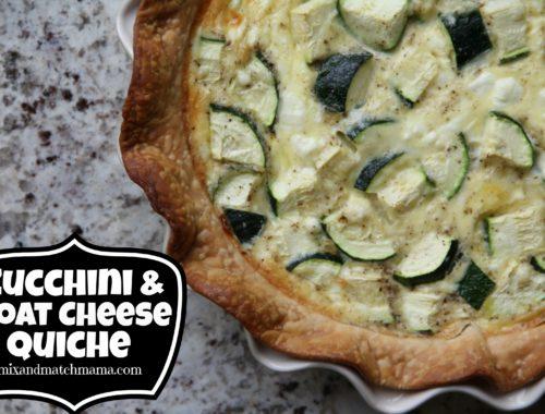 Zucchini & Goat Cheese Quiche
