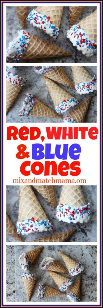 Red, White & Blue Cones