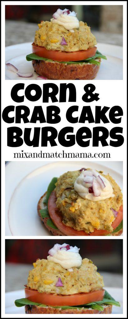 Corn & Crab Cake Burgers
