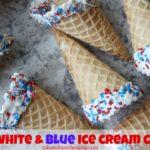 Red, White & Blue Ice Cream Cones