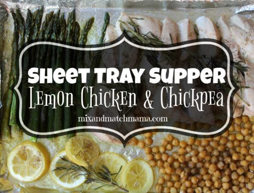 Sheet Tray Supper Lemon Chicken & Chickpea