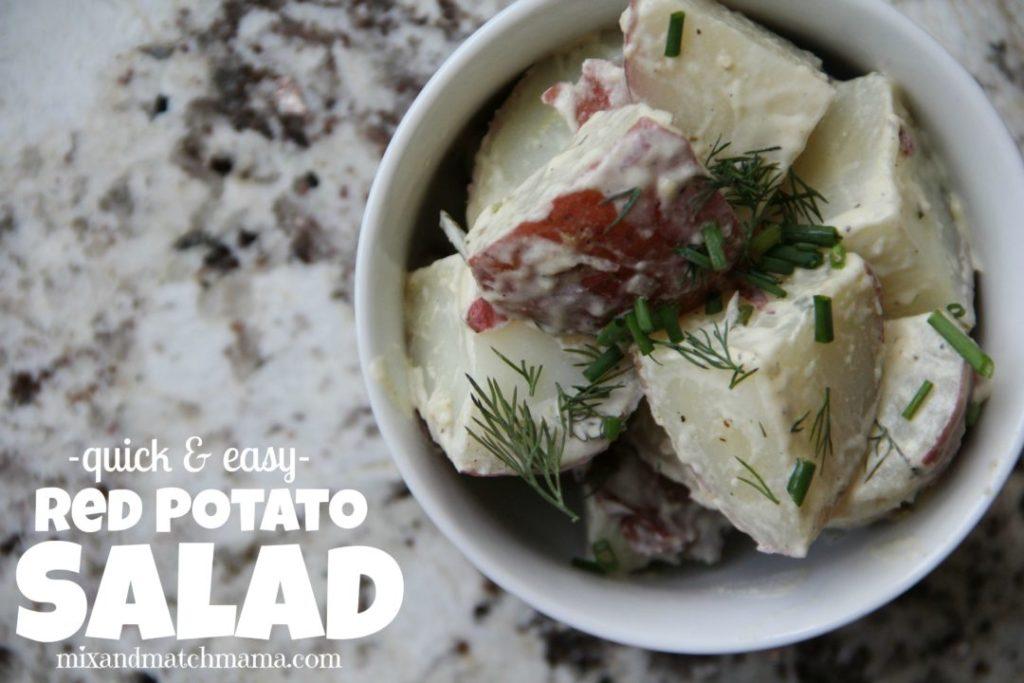 Quick & Easy Red Potato Salad