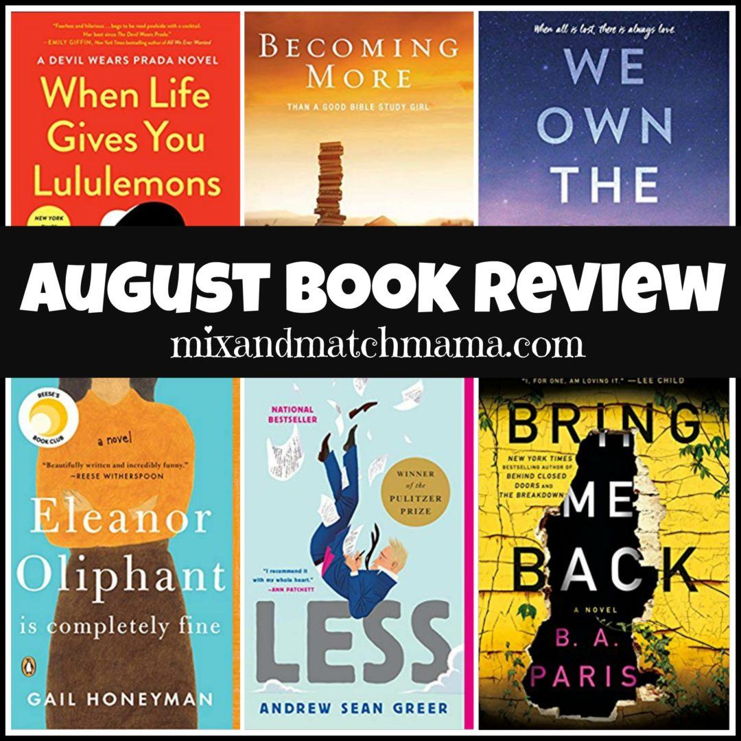 August 2018 Book Review | Mix and Match Mama