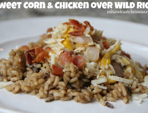 Sweet Corn & Chicken over Wild Rice