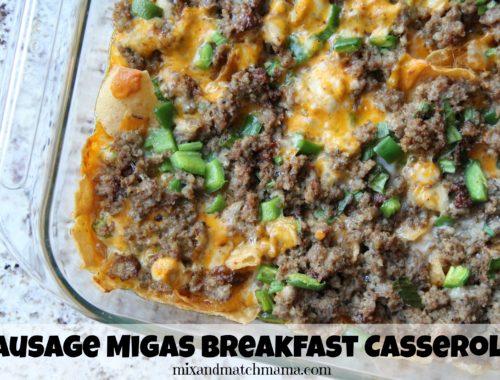Sausage Migas Breakfast Casseroleq