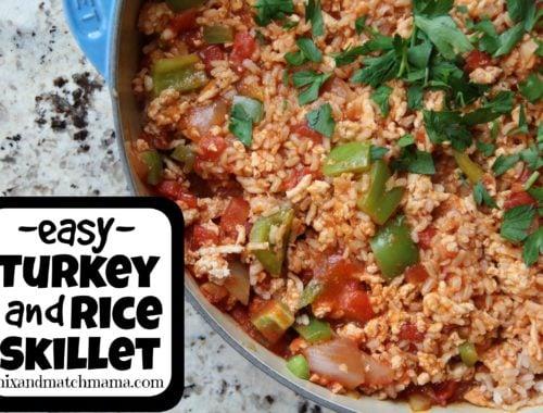 Easy Turkey & Rice Skillet