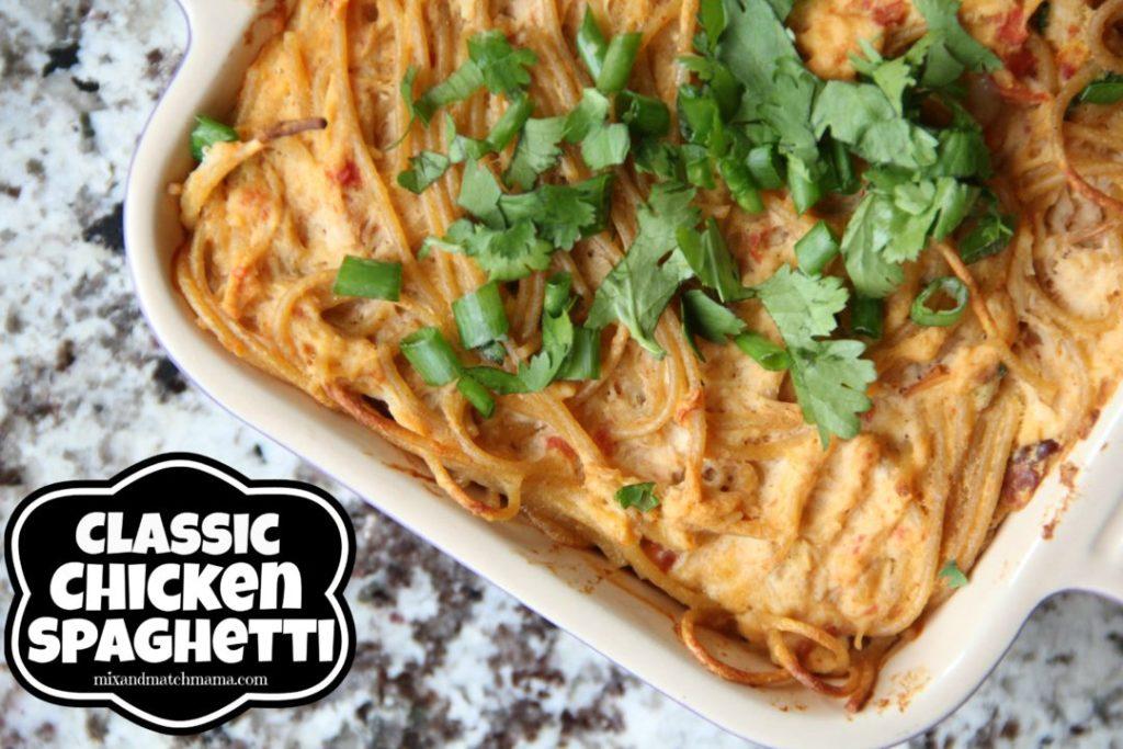 Classic Chicken Spaghetti