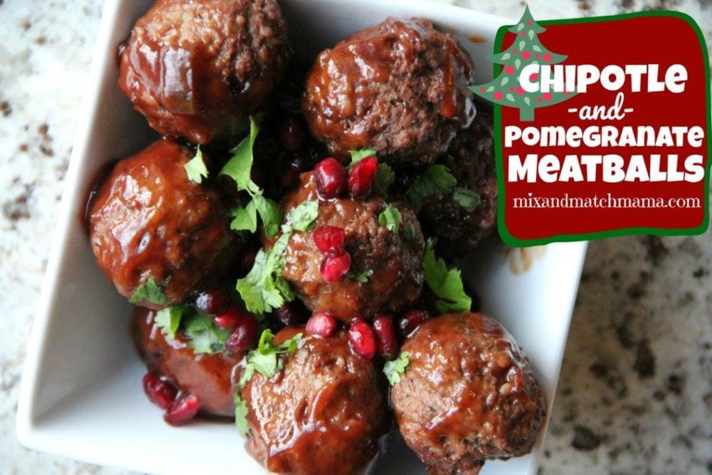 Chipotle & Pomegranate Meatballs