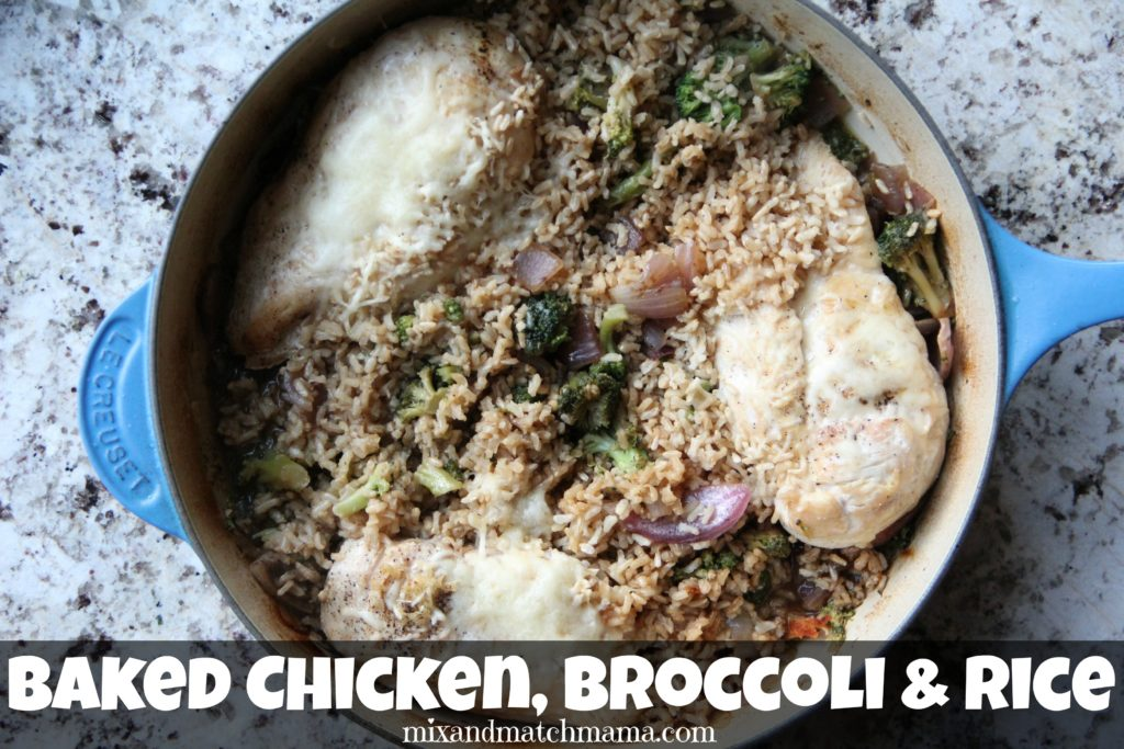 Baked Chicken, Broccoli & Rice