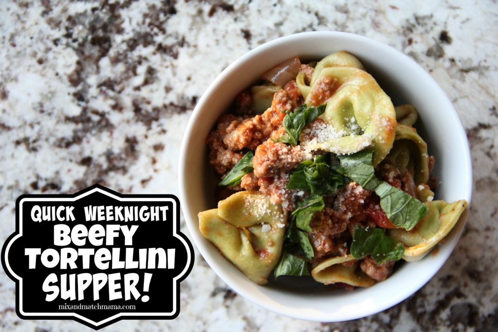 Quick Weeknight Beefy Tortellini Supper
