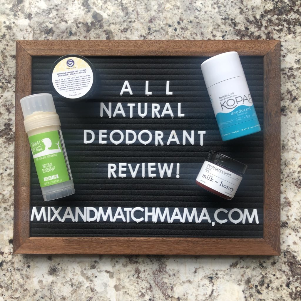 All Natural Deodorant Review | Mix & Match Mama