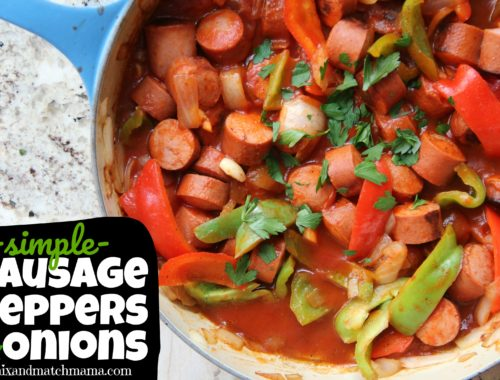 Simple Sausage Peppers & Onions