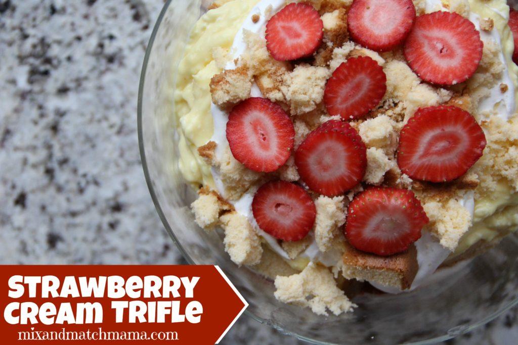 Strawberry Cream Trifle