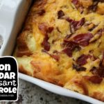 Bacon Cheddar Croissant Casserole