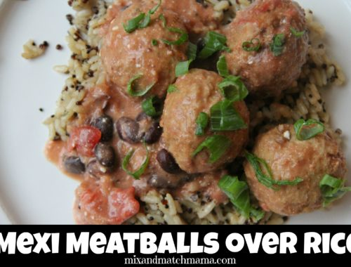 Mexi Meatballs over Rice