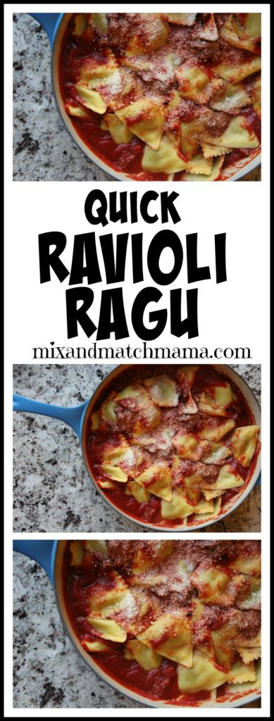 Quick Ravioli Ragu